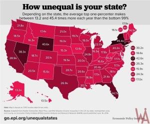 EPI Income Inequality Map of the USA