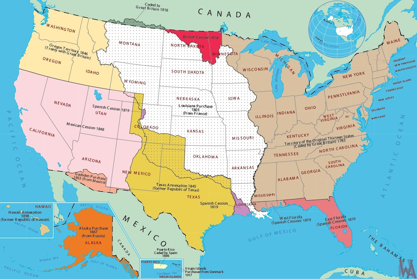 Historical Maps Of Usa