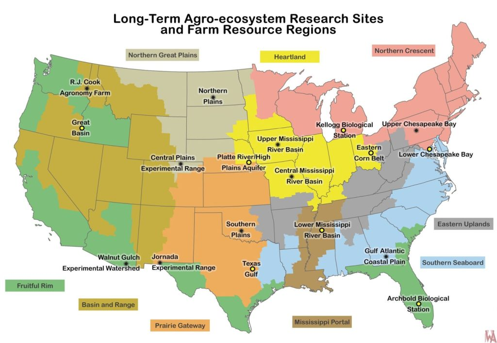 LTAR Sites a farm resource regions map of the USA | WhatsAnswer