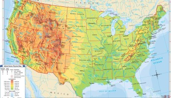 Geographical Satellite map of the USA | WhatsAnswer