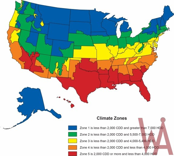 New Climate zone Map of the USA