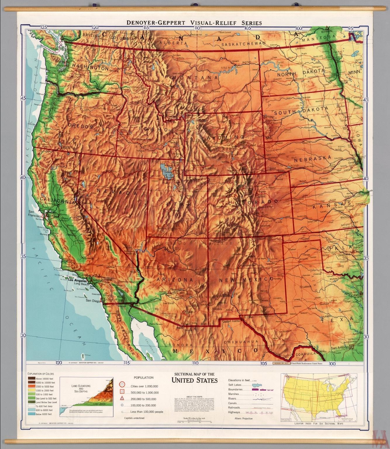 Population map West USA