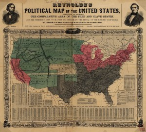 Reynolds's Political and Historical  Map of the United States 1856