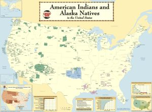 The Map of Alaska Natives in the United States