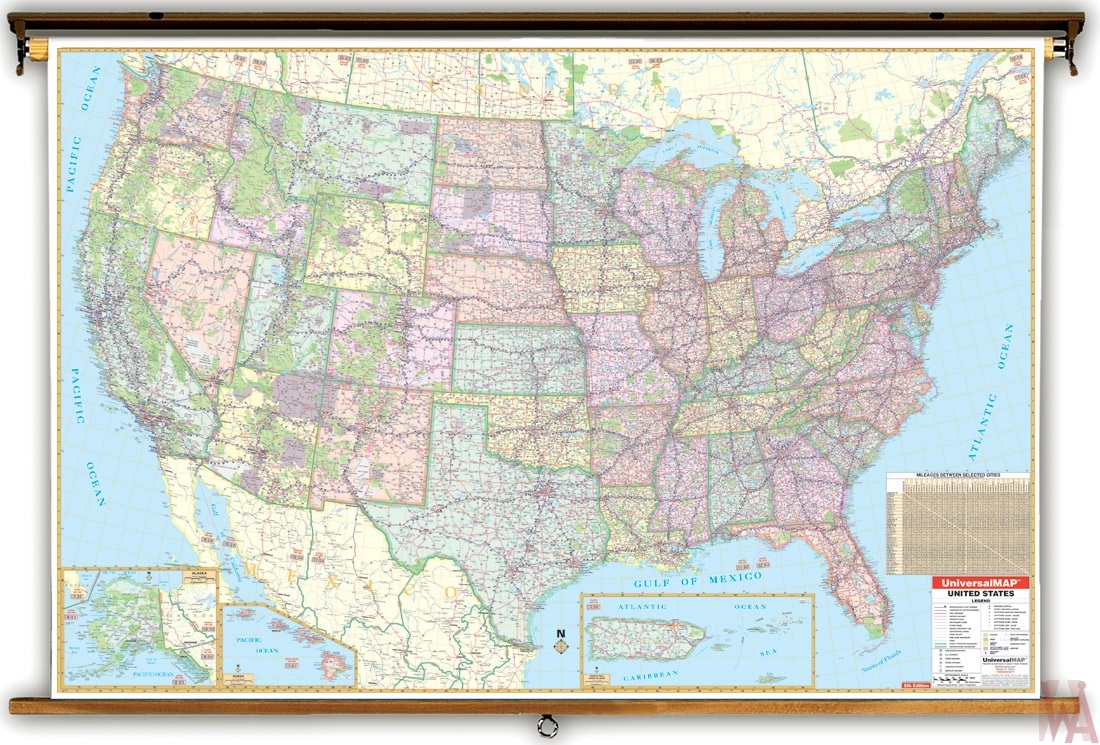 universal enlarged political Map of the United States | WhatsAnswer