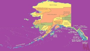 Alaska Color County Map   Color County Map of Alaska