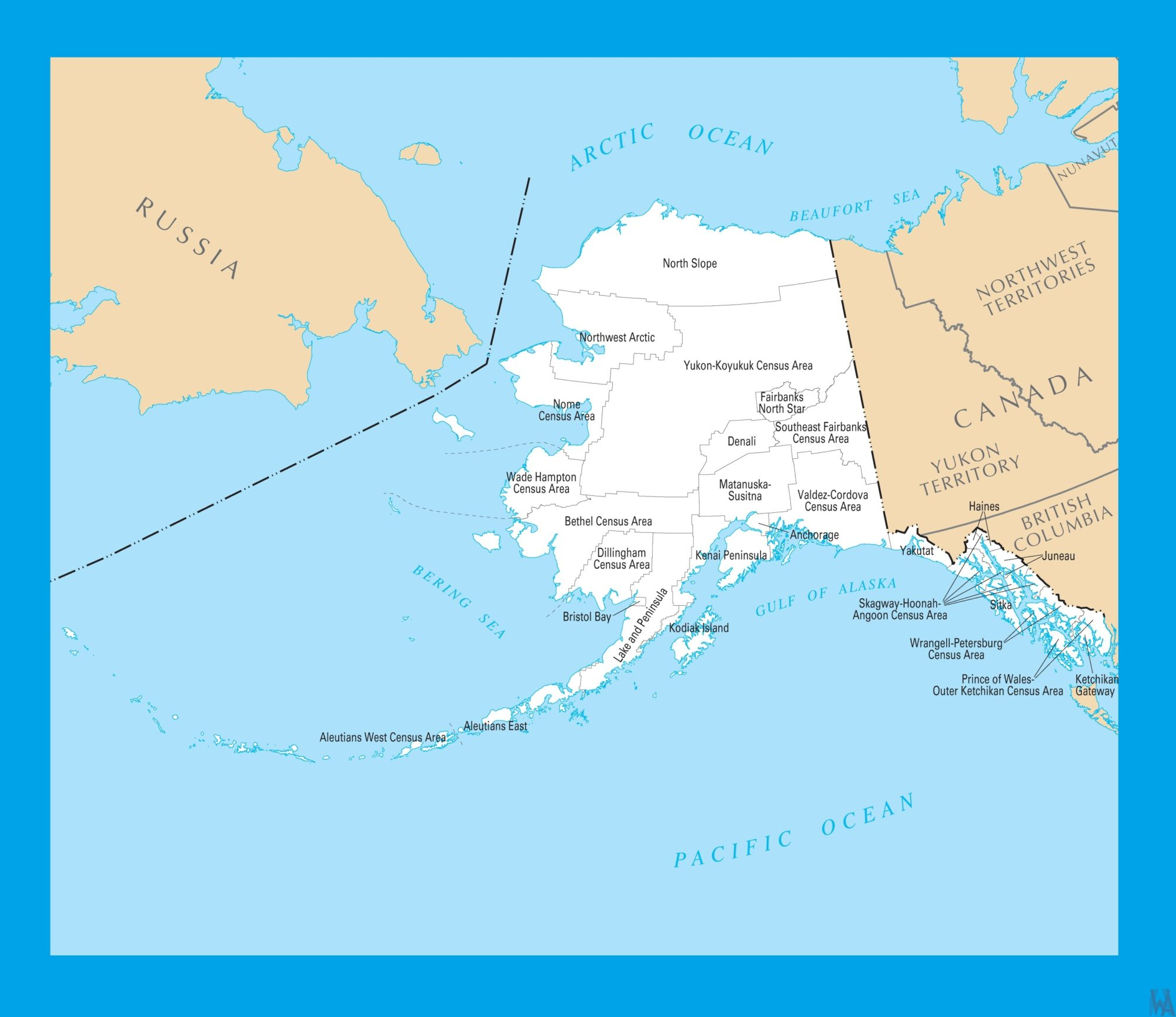Alaska County Map |  County Map of Alaska