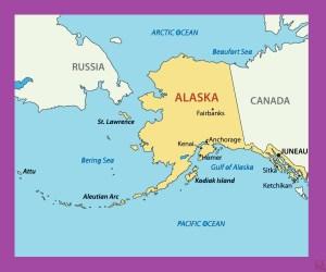 Alaska Political Map    Political  Map of Alaska