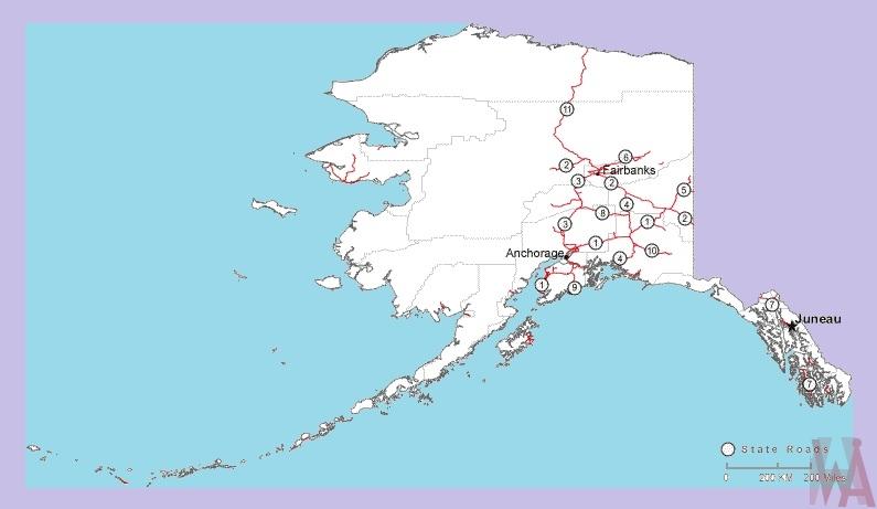 Alaska Roads Map Roads Map Of Alaska Whatsanswer