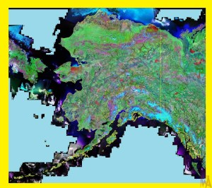 Alaska Satellite Map |  Satellite Map of Alaska