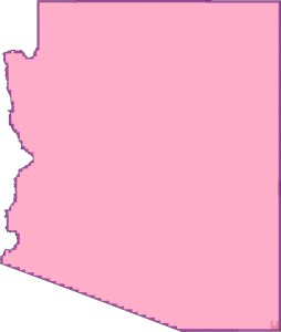 Arizona Blank Outline Map   Blank Outline Map of Arizona -5
