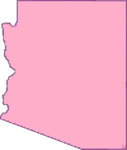 Arizona Blank Outline Map   Blank Outline Map of Arizona -5