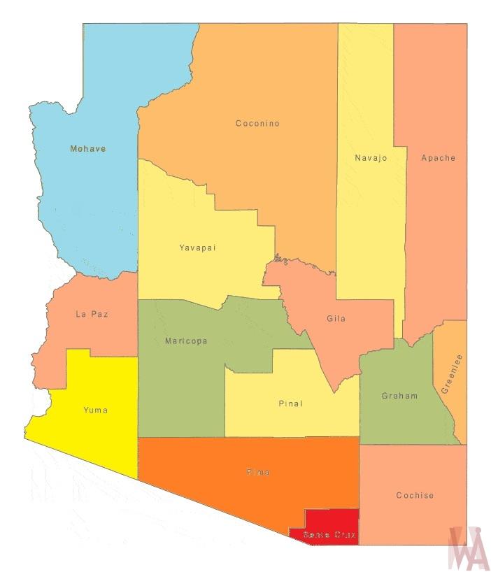 Map Of Arizona By County.Arizona County Map County Map Of Arizona Whatsanswer