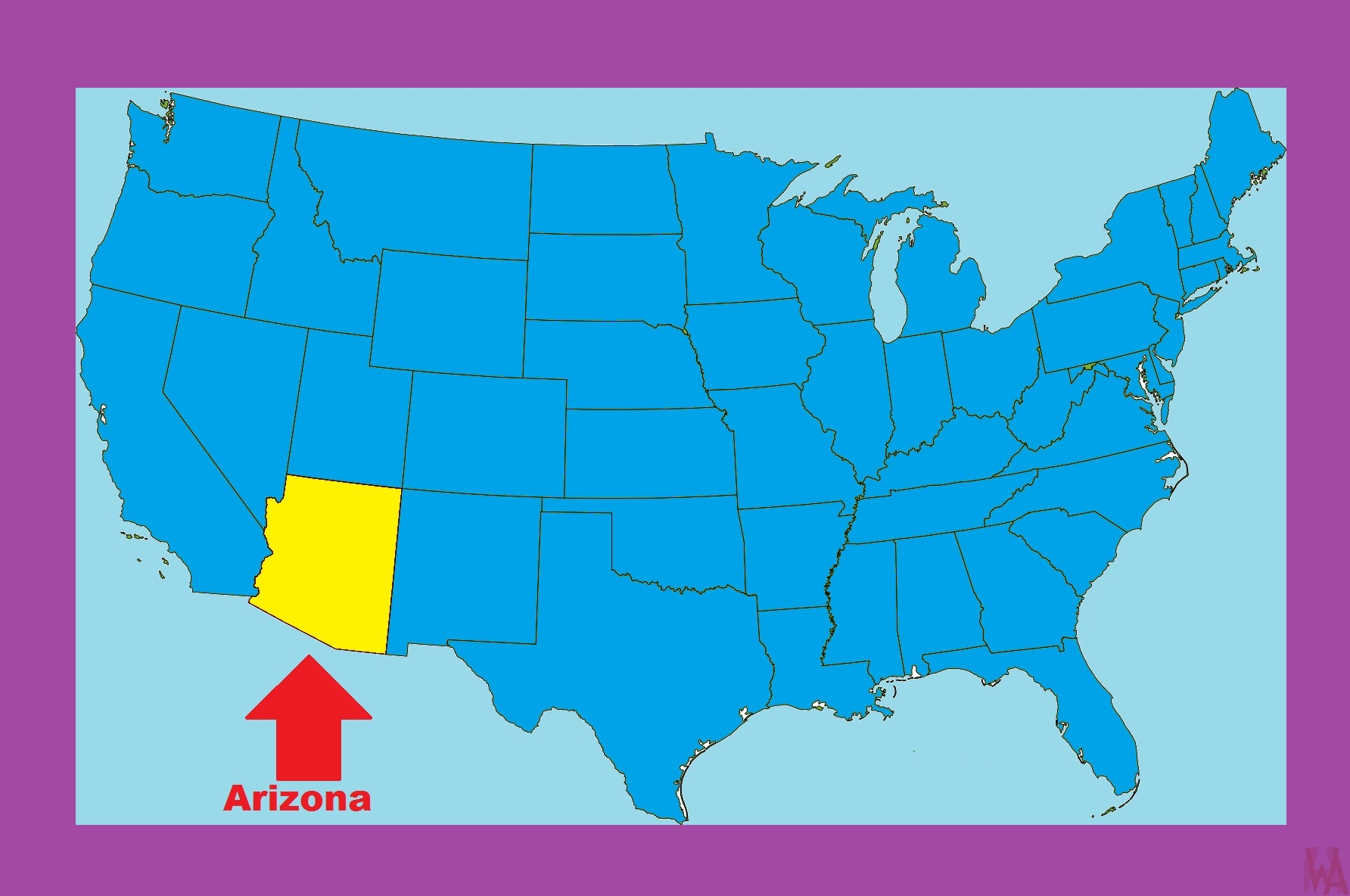 Arizona Location  Map |  Location  Map of Arizona – 2