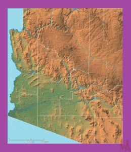 Arizona Physical  Map | Physical  Map of Arizona