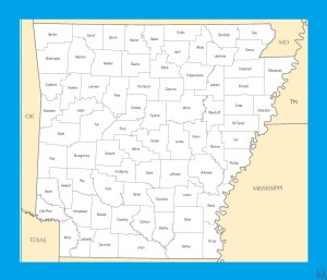 Arkansas County  Map  |  County Map of  Arkansas