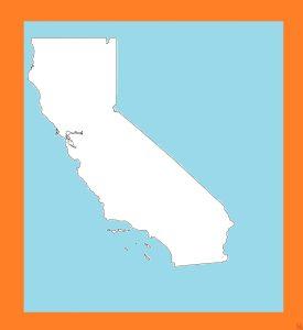 California Blank Outline Map – 1  | Blank Outline Map of California