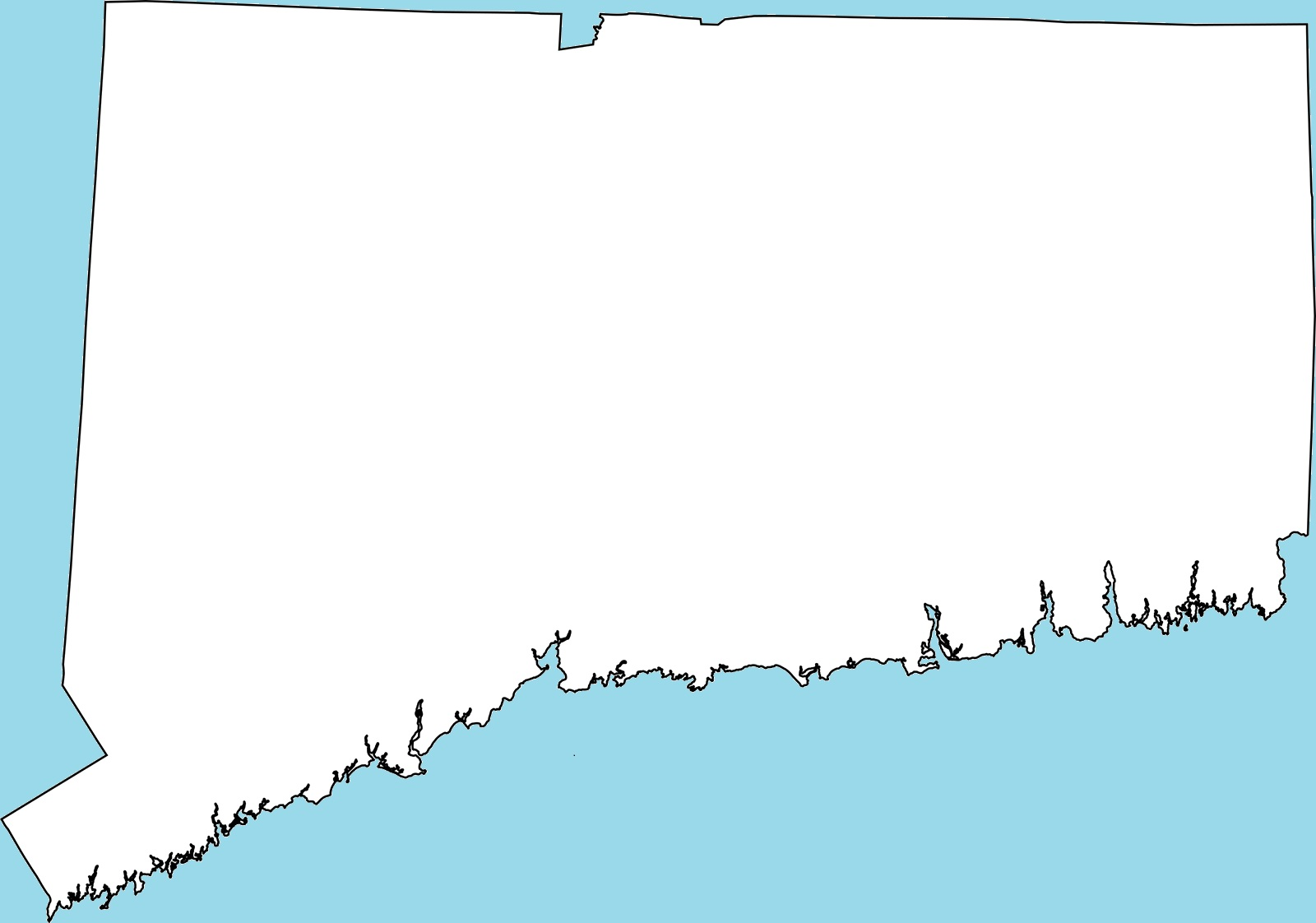 Connecticut Blank Outline Map – 2  Blank Outline Map Of Connecticut