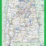 Alabama Large Highway Map Alabama City County Political Large Highway Printable Map Whatsanswer