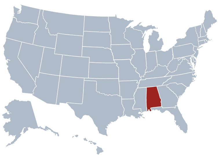 Where Is Alabama Located On The Us Map Alabama Location Map | Location Map of Alabama Large Printable