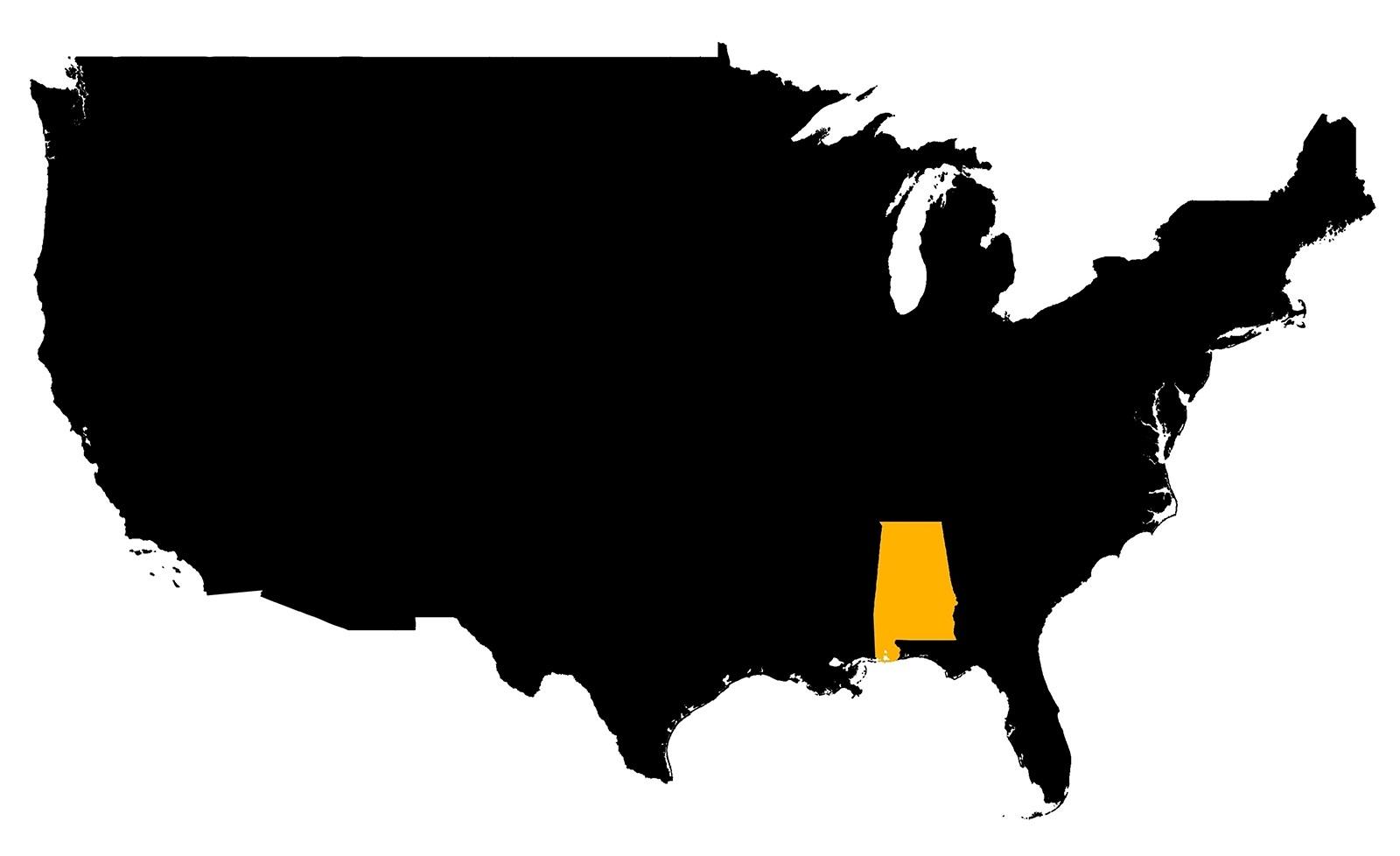 Alabama Location  Map |   Location  Map of Alabama