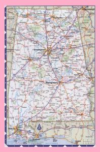 Alabama Road Map | Road Map of Alabama | High Resolution, Large, City Town County