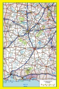 Alabama Large Highway  Map   Large Highway  Map of Alabama-city-county-political