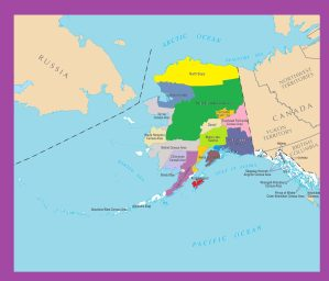 Alaska County Map  | Large Printable Color