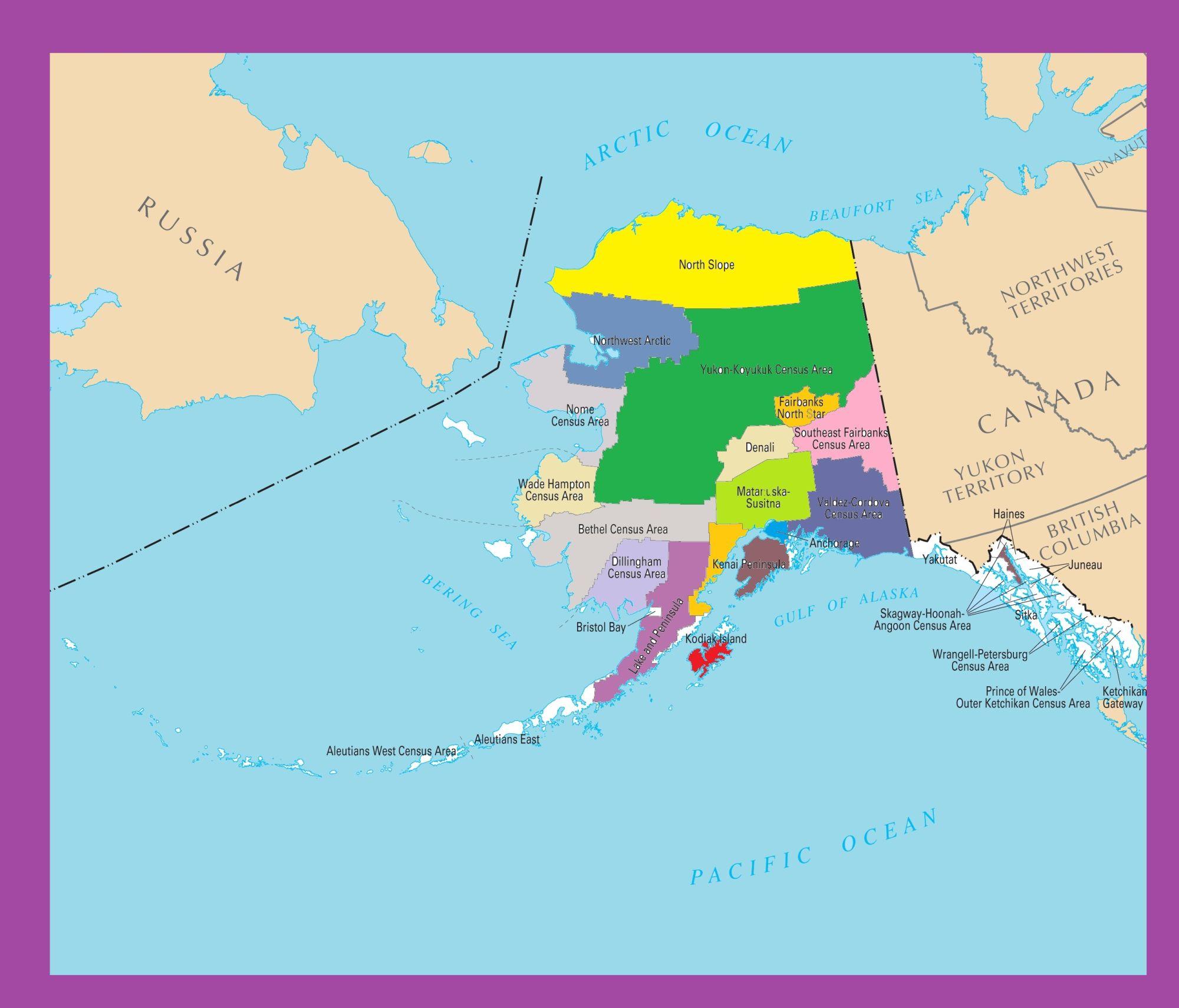 photo regarding Printable Maps of Alaska identified as Alaska County Map Huge Printable Shade WhatsAnswer
