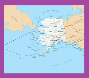 Alaska Political Map | Large Printable and Standard Map