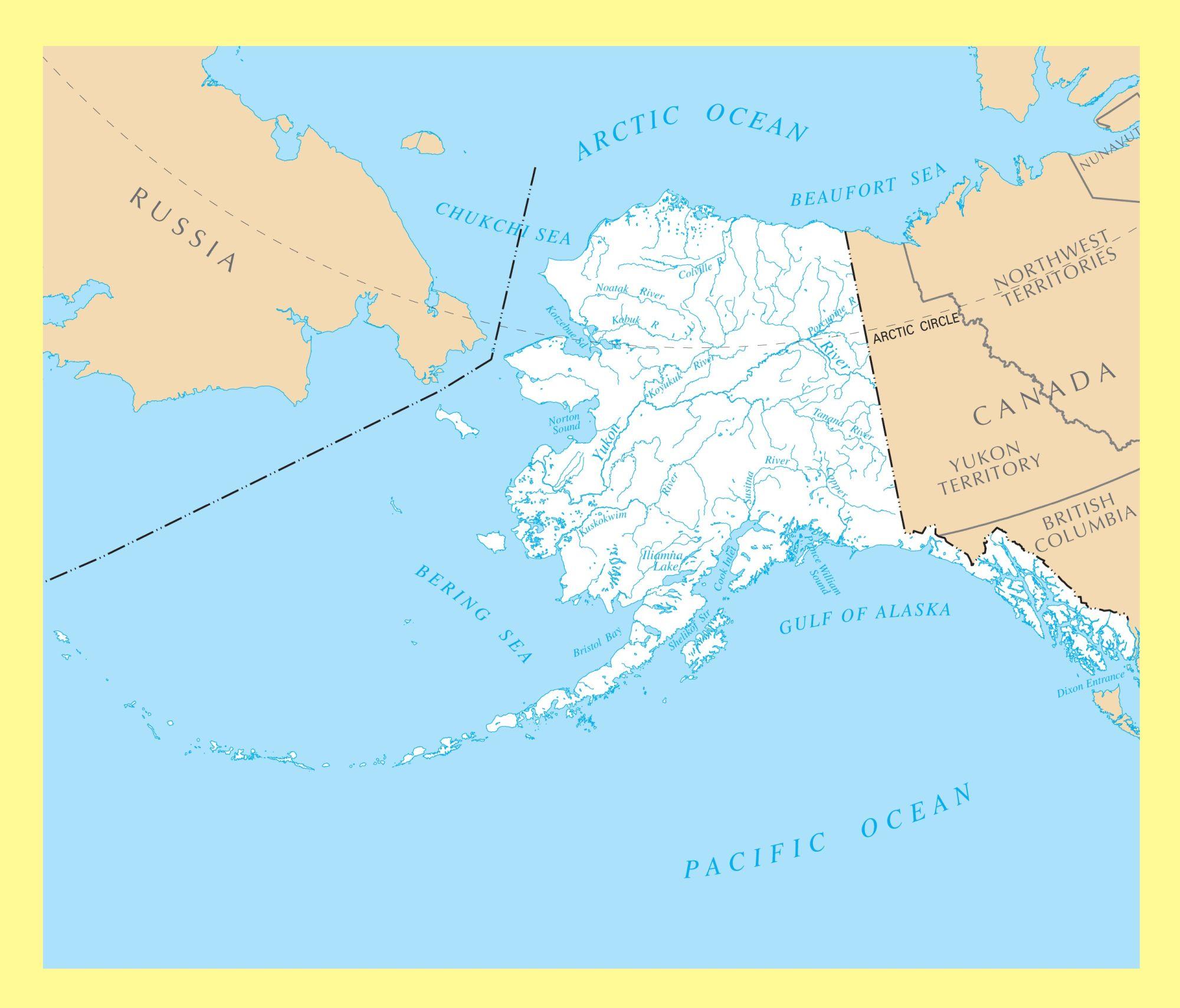 Alaska River Map | Large Printable and Standard Map 1