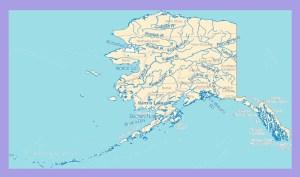 Alaska River Map | Large Printable and Standard Map