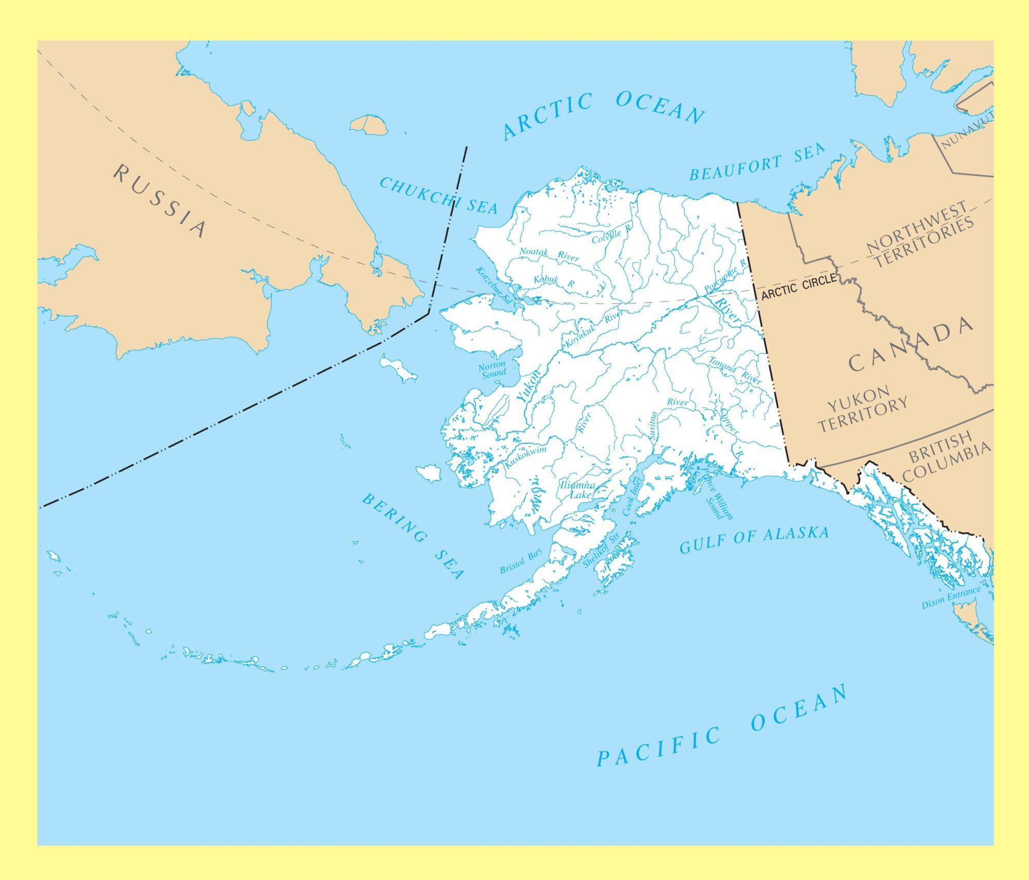Alaska River Map | Large Printable and Standard Map 3