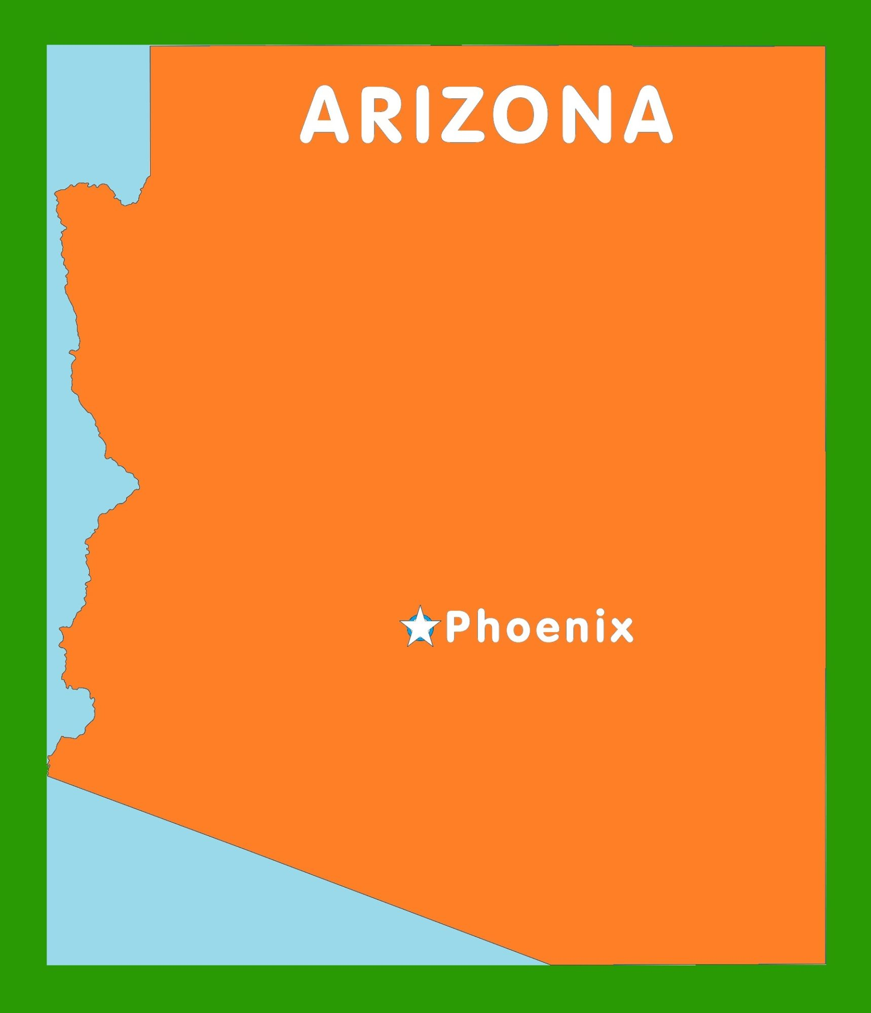 graphic about Printable Arizona Map identified as Arizona Funds Map Enormous Printable and Conventional Map