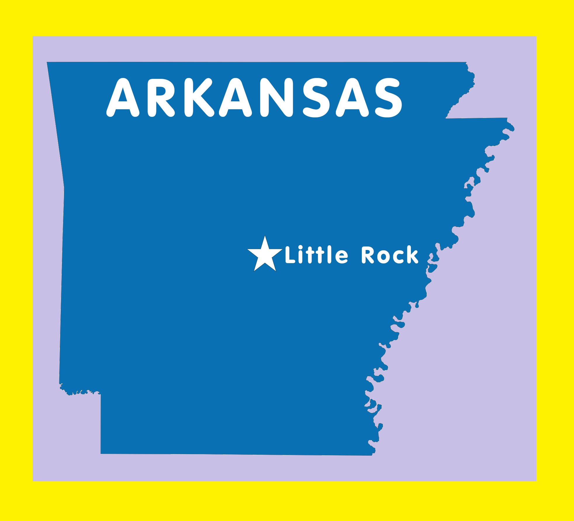Arkansas Capital Map | Large Printable and Standard Map