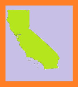 California Blank Outline  Map | Large Printable and Standard Map – 2
