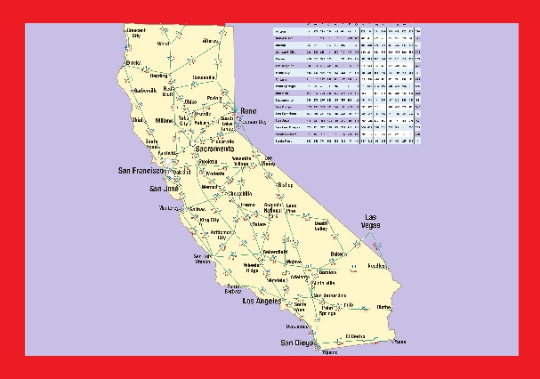 California Highway Map | Large Printable and Standard Map