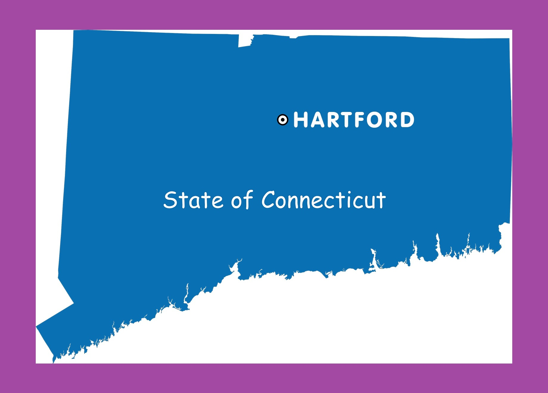Connecticut Capital Map | Large Printable and Standard Map