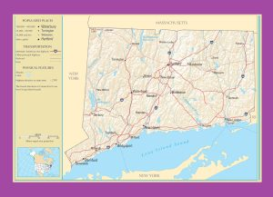 Connecticut Political Map | Large Printable and Standard Map