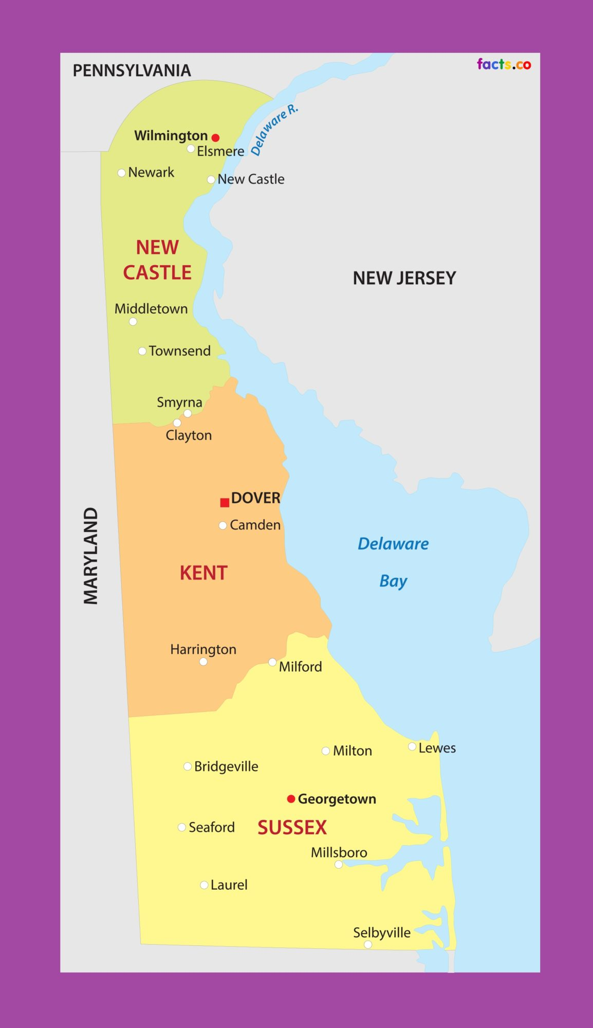 Delaware City Map | Large Printable and Standard Map