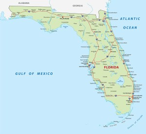 Political Map of Florida  | Large Printable Florida Political Map