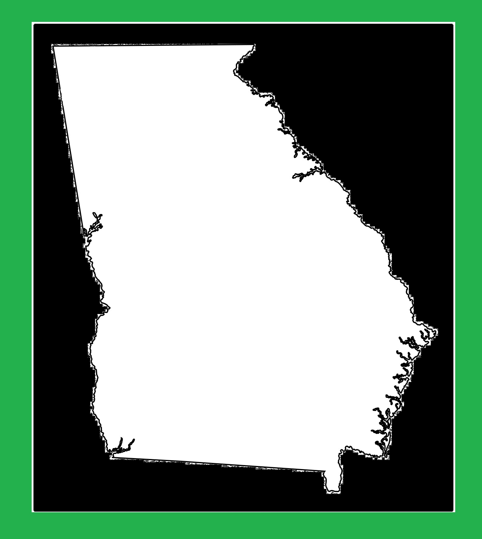 Georgia Blank Outline Map | Large Printable and Standard Map 5