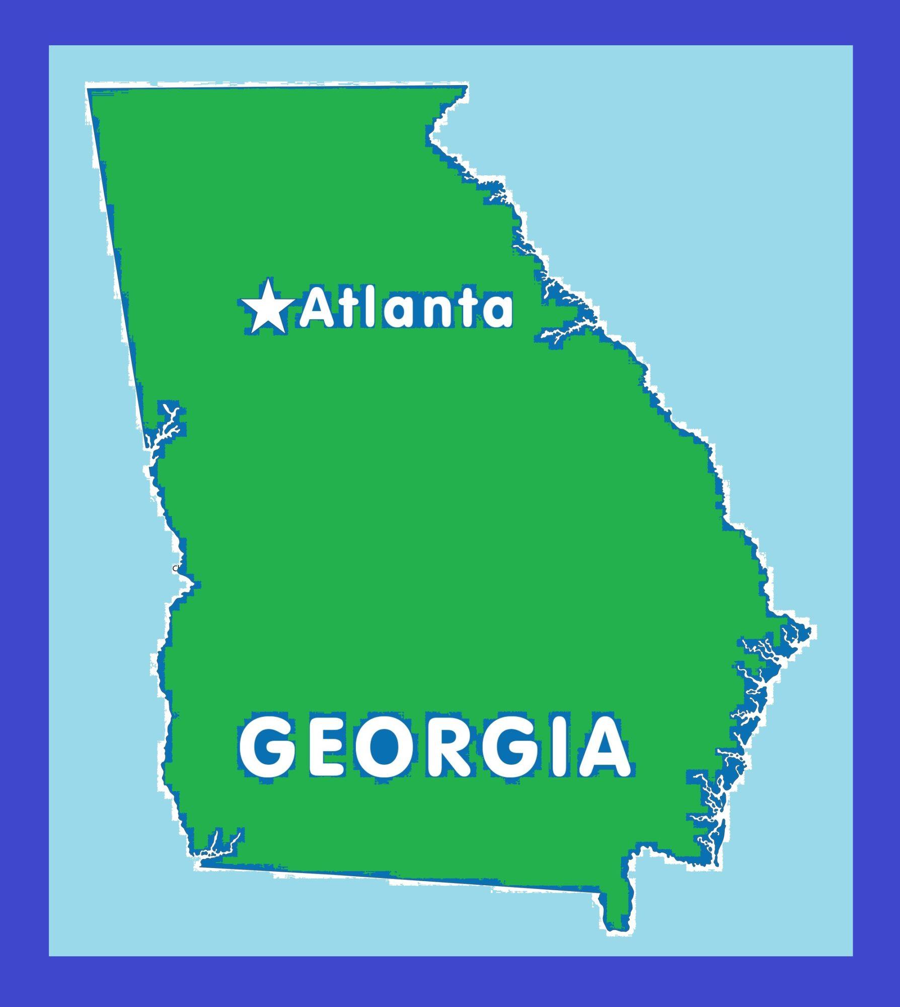 Georgia Capital Map   Large Printable and Standard Map 11