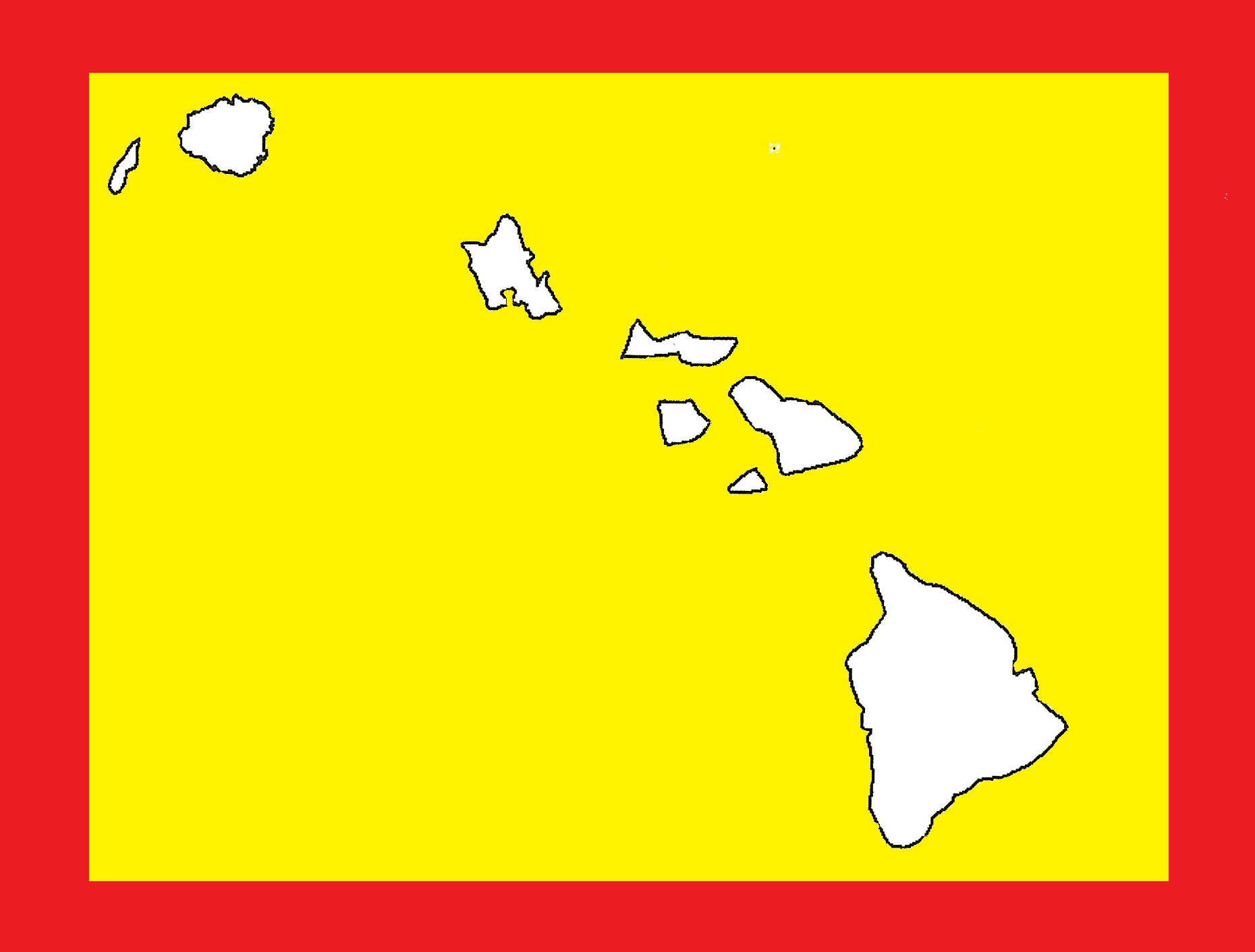 Hawaii Blank Outline Map | Large Printable and Standard Map 20