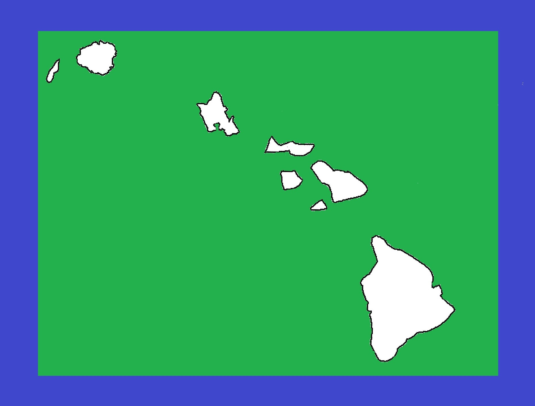 Hawaii Blank Outline Map | Large Printable and Standard Map 9