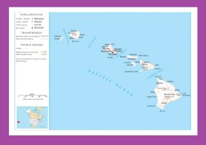Hawaii Political Map | Large Printable and Standard Map