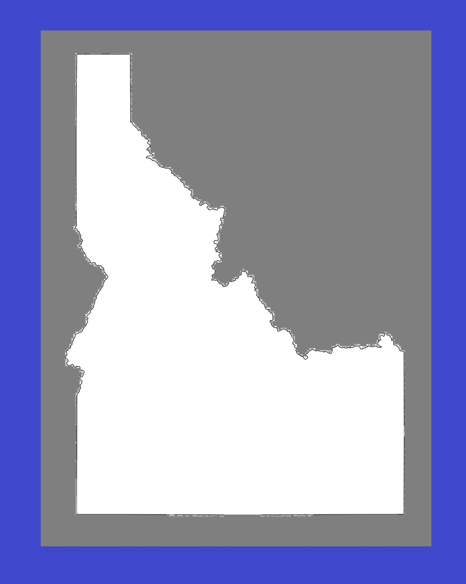 Idaho Blank Outline Map | Large Printable and Standard Map 5