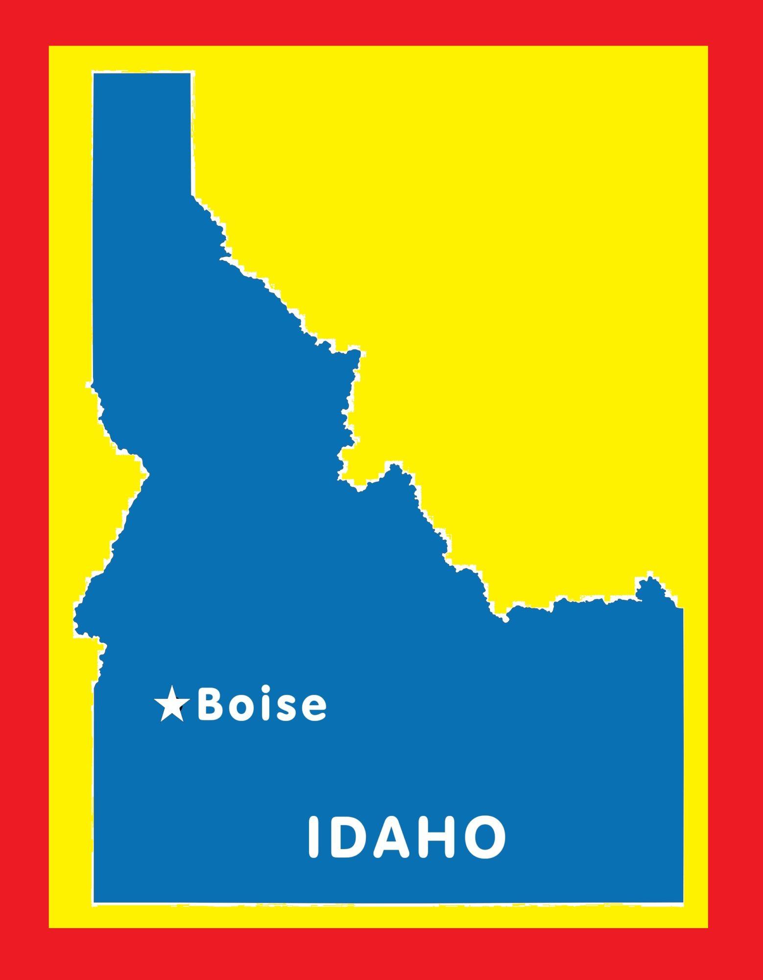 Idaho Capital Map   Large Printable and Standard Map 9