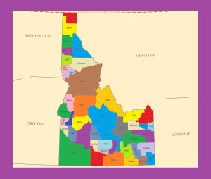 Idaho County Map | Large Printable and Standard Map