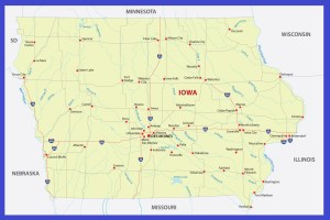 Iowa Details Map | Large Printable High Resolution and Standard Map